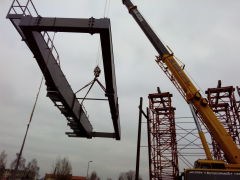 Delivery of a double girder bridge crane with a capacity of 40t for Metrostav