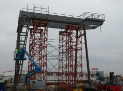 Preliminary mounting of gantry crane, GPMJ 40t/11,5 m