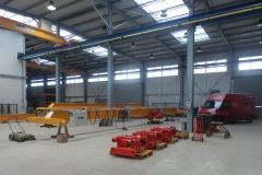 Production of crane and hoists – new hall of GIGA