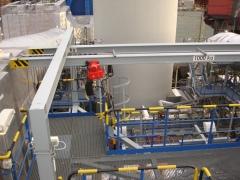 Hoists for a new desulphurization equipment of flue gases in Slovnaft Bratislava, Slovak Republic