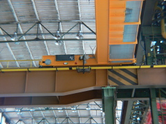 Special bridge cranes with cantilevered hoists, NYPRO Přerov