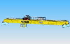 3D modeling of double girder bridge crane GDMJ 10t, 35m