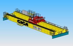 3D modeling of crane GDMJ 80t-12,5t-25,1m v SolidWorks, Sokolovská uhelna