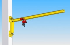 3D model of slewing jib wall-mounted crane, type GKOJ 0,5t-6m