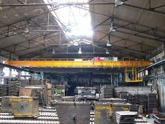 Bridge cranes of GIGA - double girder bridge crane GDMJ 5t:18,4m – foundry, with a cabin