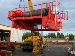 Bridge cranes of GIGA with a capacity of 125t a 165t for electric plant Počerady, 6