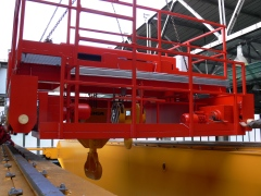 Mounting of bridge crane GDMJ 80t-12,5t-25,1m