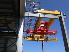 Double girder bridge crane GDMJ 50t, 15,4 m after mounting