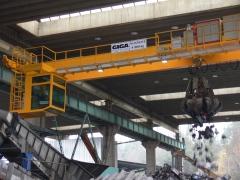Mostový jeřáb GDMJ 8t/16,5m s kabinou a drapákem pro KOVOHUTĚ Příbram_9