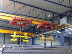 Bridge crane GJMJ 1,8t+1,8t-27,5m with rope stabilization