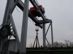 Winch GWF 50t/12m, MCE Nyíregyháza Kft, Hungary, after mounting