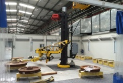 Robotic welding stations with hoists of GIGA