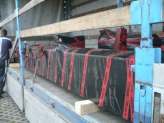 Production and dispatch of bridge crane for Okulovka Russia - loading