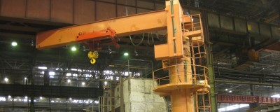 Hoist GHF 16000, including invertor control, for a slewing jib crane, Kazakhstan