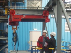 Hoists for a new desulphurization equipment of flue gases in Slovnaft Bratislava, Slovak Republic