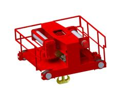 Electric wire-rope hoist crab, type GHM 25000-14-2x4/1-12M,D_4593