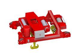 Electric wire-rope hoist crab, type GHM 25000-14-2x4-1-9M,D+GHM 10000-20-4-1-9M,S_5114