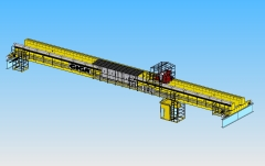3D modeling of double girder bridge crane GDMJ 10t, 35m