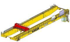 3D models of Bridge cranes of GIGA - double girder bridge crane GDMJ 120t:41,25m