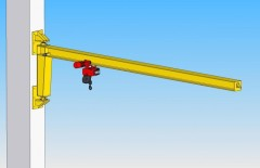 3D model of slewing jib wall-mounted crane, GKOJ 0,5t-6m