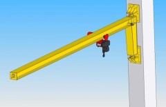 3D model of slewing jib wall-mounted crane - GKOJ 0,5t-6m