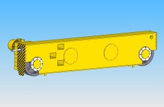 3D model of end carriages