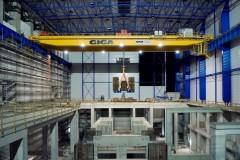 Double girder bridge crane GDMJ 120t:50t:41,25m