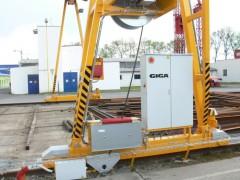 GPMJ 8t:13m outdoor gantry crane, Montáže Přerov, 2012, supports