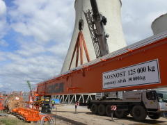 Bridge cranes of GIGA with a capacity of 125t and 165t for electric plant Počerady, 2