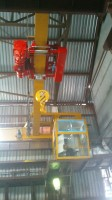 Single bridge cranes 6,3t with a cabin and hoists of GIGA
