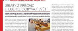 Article in v TECH magazine – Cranes from Příšovice near Liberec are capturing the world