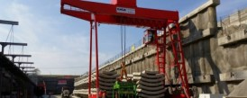 Delivery of a double girder gantry crane with a capacity of 40t pro Metrostav