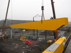 Mounting of bridge crane GDMJ 10t, 35m Viadrus