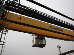 Mounting of bridge crane GDMJ 10t, 35m, Viadrus