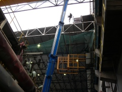 Mounting of bridge crane GDMJ 80t-12,5t-25,1m