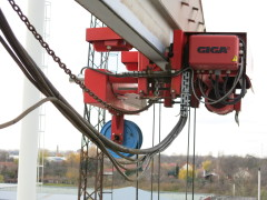 Gantry crane in MCE Hyíregyháza – status before modernization