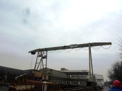 Gantry crane in MCE Hyíregyháza – status before modernization