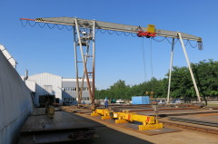 Gantry crane in MCE Hyíregyháza after modernization