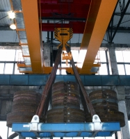 Tests of bridge crane GDMJ 80t-12,5t-25,1m